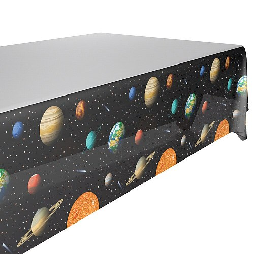 132x220cm Outer Space Tablecloth Kids Boys Birthday Disposable Decoration table cloth cover Baby Shower party supplies