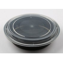 10PCS 720ML Disposable Bowl Take Out Containers Food Storage Box with Lids - Round