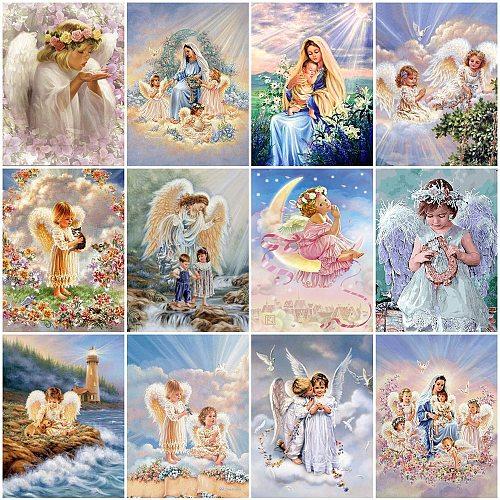 Evershine 5D DIY Diamond Painting Angel Cross Stitch Kit Diamond Embroidery Portrait Mosaic Rhinestones Art Home Decor