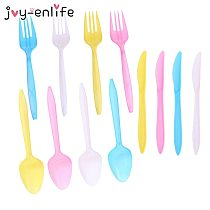 80pcs Unicorn Plastic Knife Fork Spoon Disposable Tableware Cartoon Unicorn Party Children Birthday Party Baby Shower Supplies
