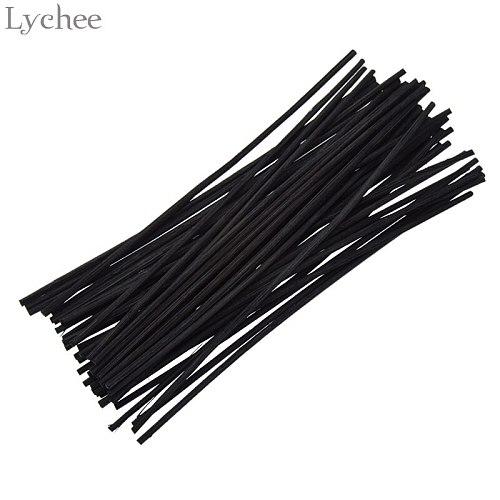 Lychee Life 50Pcs Black Rattan Reed Replacement Refill Sticks Rattan Volatilizating Essential Oil Home Party Decorations Sticks