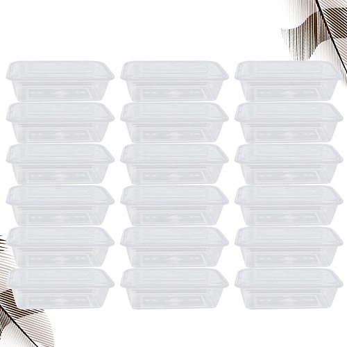 50pcs Transparent Fruit Carry Out Box Disposable Salad Meal Containers Food Storage Box Take Out Packing Box (500ml)