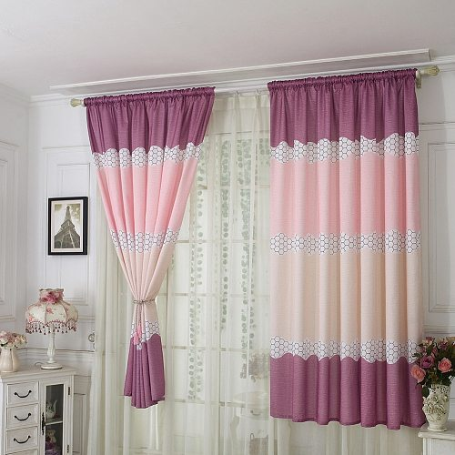 Home Window Bedroom Polyester Print Curtain Decoration  1*2 M Scarf Valances Specials Short Pastoral Semi-Shade Curtains