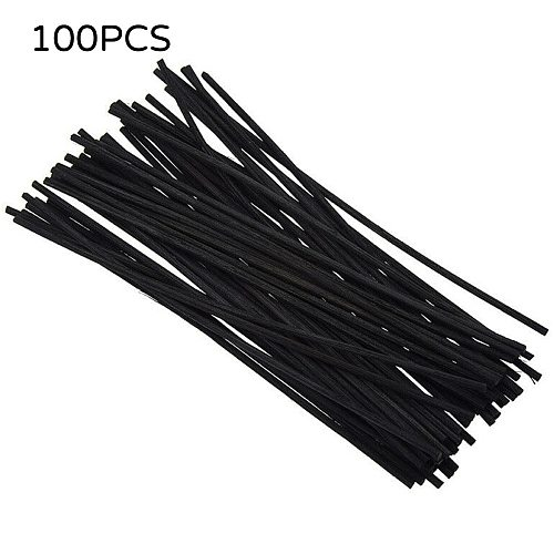 Black Reed Diffuser Sticks Fiber Replacement Refills Diy Handmade Home Decor Thick Rattan Reed Oil Diffuser Accessories