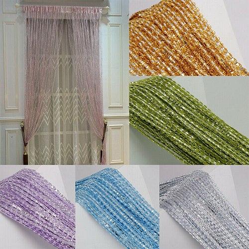 1*2 M Glitter String Door Curtain Beads Curtain Window Door Divider Room Dividers Beaded Fringe Drape Living Room Decor Curtain