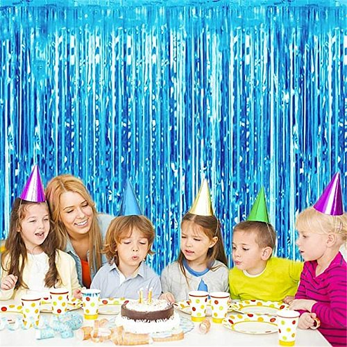 Metallic Tinsel Foil Fringe Curtains Tinsel Foil Fringe Curtains Backdrop Sparkle Fringe Curtains for Party Birthday Wedding