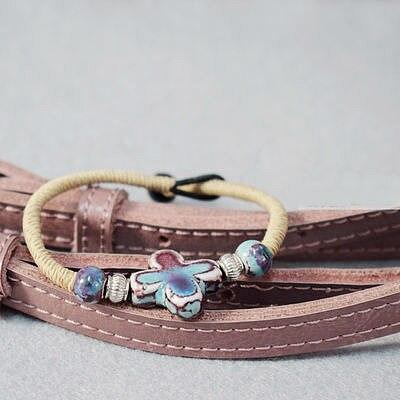 Sunday Youth Fellowship Gift, Holiday Bracelet Handmade Cross Beads Ceramic Bracelet, Christian Gift, Church Souvenir, Jesus