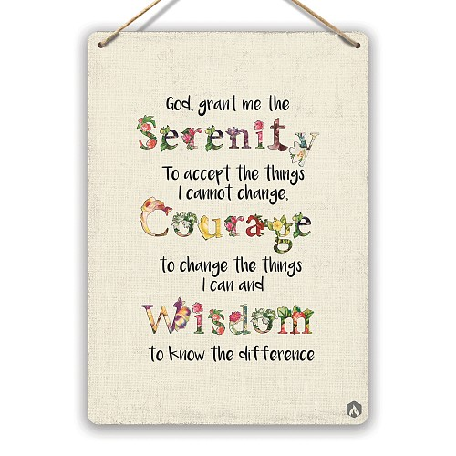 Serenity - Metal Wall Plaque Art - God Christianity Wisdom Hope Dream(Visit Our Store, More Products!!!)