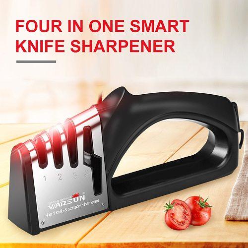 4 In1 Knife Sharpener Kitchen Knives Grinder Diamond Ceramic Stone Professional New 4 Stages Sharpener Tools Sharpening Supplies