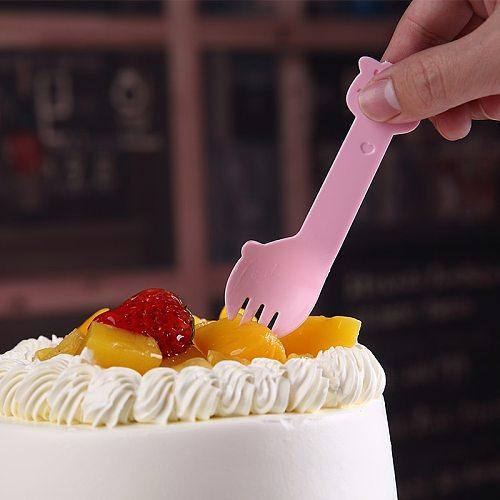 Disposable Spoon Dessert Spoon Cake Fork Fruit Fork Plastic Spoon Fork Spoon Fork Individually Wrapped Ice Cream Spoon