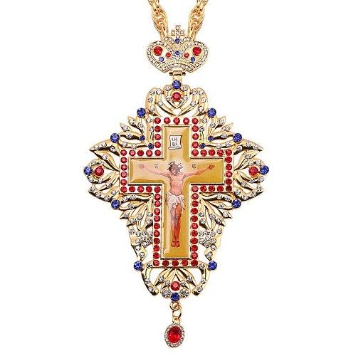 INRI Crucifix Jesus Necklace Men Orthodox Cross in Christian Plaques Pendant for Men Catholic Religious Gold Hip-hop Jewelry
