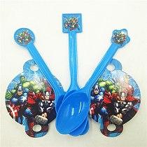 10pc Plastic Spoon Avengers Party Supplies Cartoon Theme Birthday Christmas Festival Party Decoration Superhero Kids Event Favor