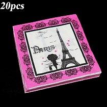 20pcs/pack Eiffel Tower theme disposable napkins Eiffel Tower theme birthday party decoration Paris Tower disposable napkins