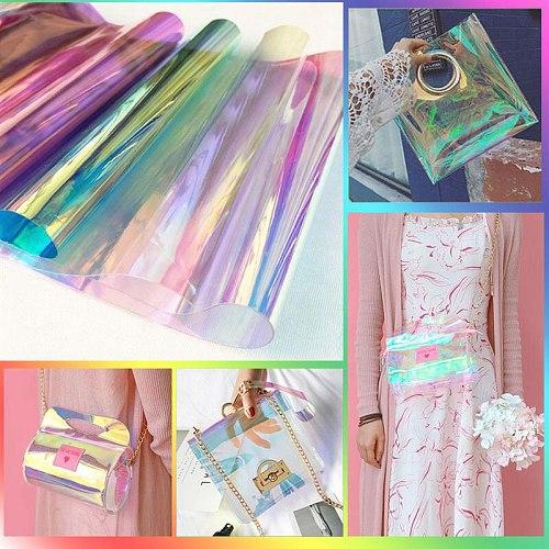 20*30cm Transparent Symphony PVC Vinyl Film for Packaging Decoration Bag Making DIY Craft Handmade
