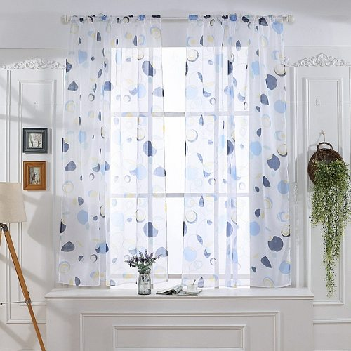 Tulle Curtains 3D Treatments American Voile Living Valance Decorations Modern Sheer Kitchen Window Room Printed Curtain
