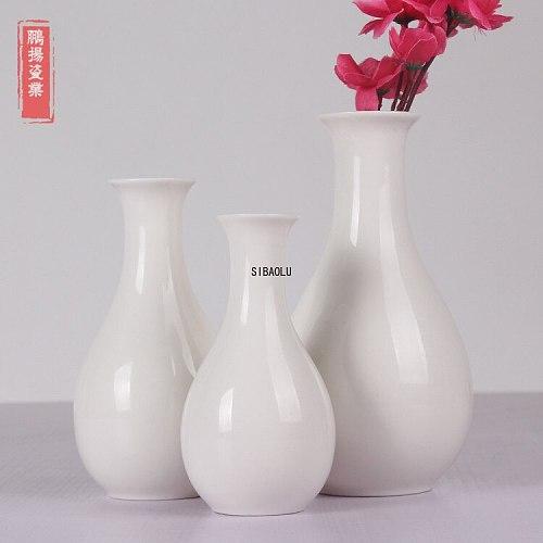 Vase Ceramic Dehua White Porcelain Guanyin Bottle Holy Water Bottle Water Purification Bottle Simple Flower Arrangement