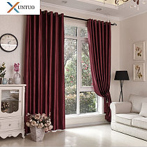 Luxury Bedroom Blackout Soft Solid Color Imitation Silk Curtains Morden Living Room Elegant Curtains Drapes Window Treatments