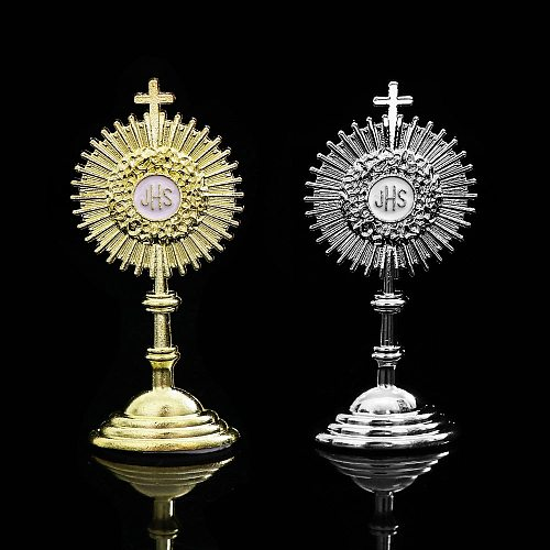 Holy Communion Religious JHS Statue Mini First Gift Jesus Charms Golden Sacramento Baptismal Table Decoration Statue