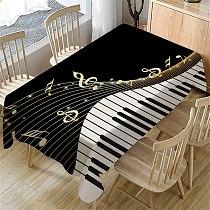 Piano Music Pattern Table Cloth Rectangular Tea Table Cover Dining Home Decor toalha de mesa nappe decoracao para casa manteles
