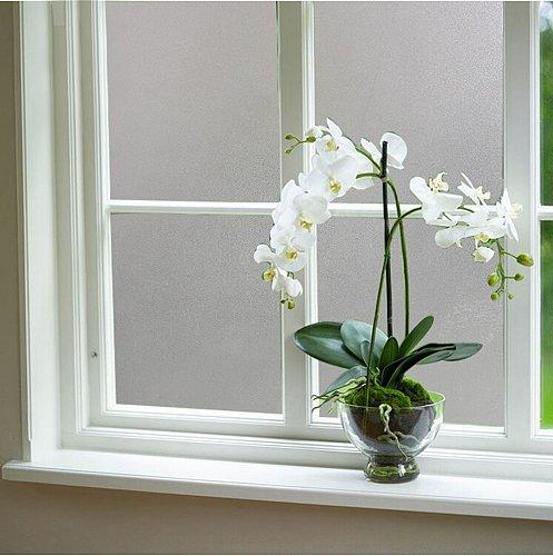 2/3/5M Window Privacy Film Frosted Matte White Self Adhesive Decorative Film Opaque Window Sticker Anti-UV Vinyl Window Blind