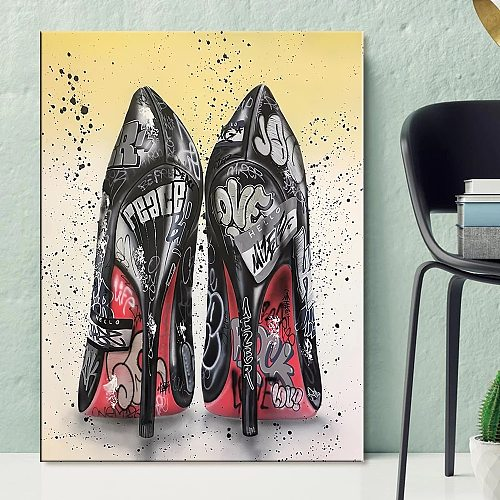 New DIY Diamond Embroidery High heel shoes Full Square Round Drill 5D Diamond Painting Cross Stitch Home Room Decor gift P522