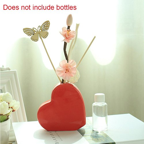 Fresh Air Decoration Home Hotels No Fire Sticks Essential Oil Diffuser Gift Spa Car Fragrance Reed Ceramic Bottle Aroma