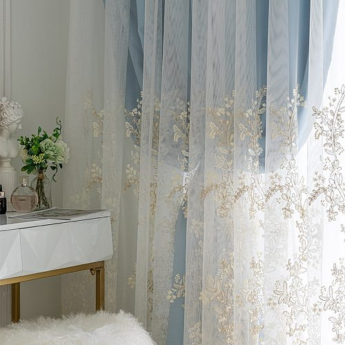 European Style Curtains for Living Room Bedroom Light Luxury Pink Princess Lace Screen Curtains French Window Curtain Tulle