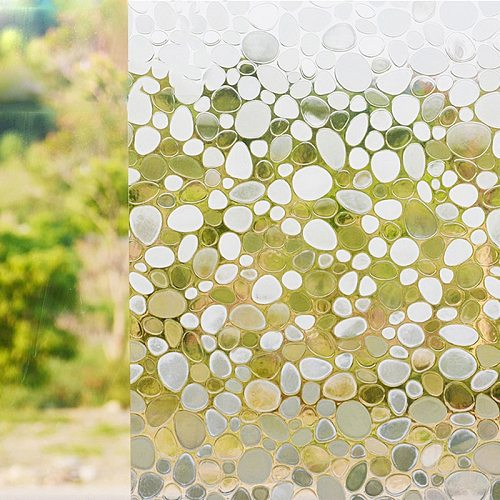 Static Cling Decor Window Film Self-adhesive Privacy Film Stained Glass Window Sticker For Bathroom Shower Door Anti UV