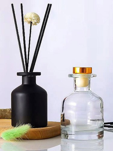 100ml Fragrance Diffuser Bottle 50ml Party Gifts Home Decoration Glass Container Natural Reed Oil Diffusers Sticks