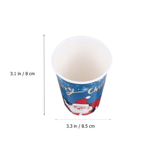 16pcs Disposable Household Practical Xmas Cups Juice Water Drinking Christmas