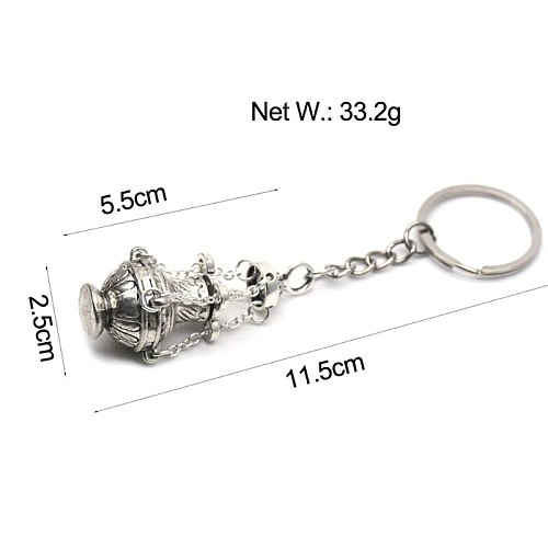 Christian Incense Burner Keychain Religious Key Ring Jewelry Bag Car Pendant Keyfob Church Souvenirs Gift