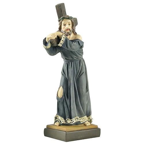 Handpainted Classic Exquisite Holy Jesus Cross Statue Figure Figurine Sculpture Craft Gift 12.5cm Tall