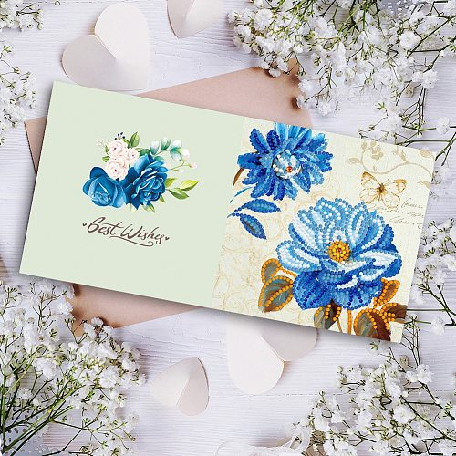 12pcs DIY Diamond Painting Greeting Cards Birthday Thanks Giving Embroidery Postcard Craft Creative Gift
