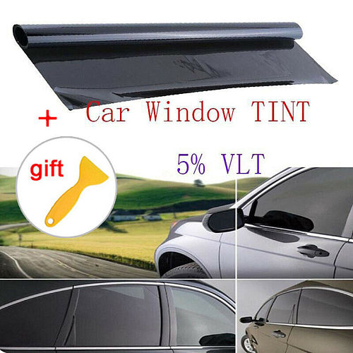 Multipurpose High Quality VLT 5% Uncut Roll 39  X 20 Window Tint Film Charcoal Black Car Glass Office Wholesale Quick delivery