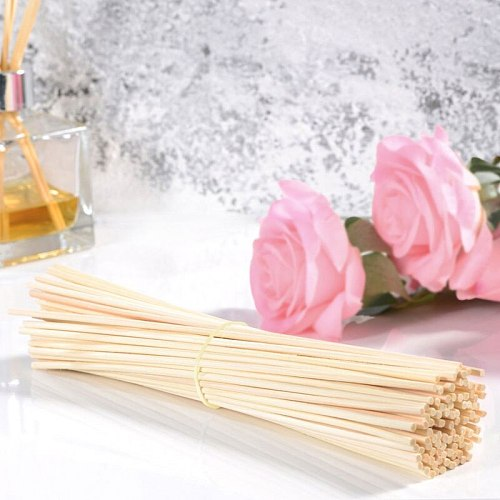 100Pcs Premium white Rattan Reed Fragrance Diffuser Replacement Refill Sticks 250mm *3.5mm for Loffon
