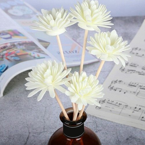 20 Pcs/Set Artificial Flower Reed Diffuser No Fire Aroma Sticks Aromatherapy Home Perfumer Household Bedroom Decor Accessories