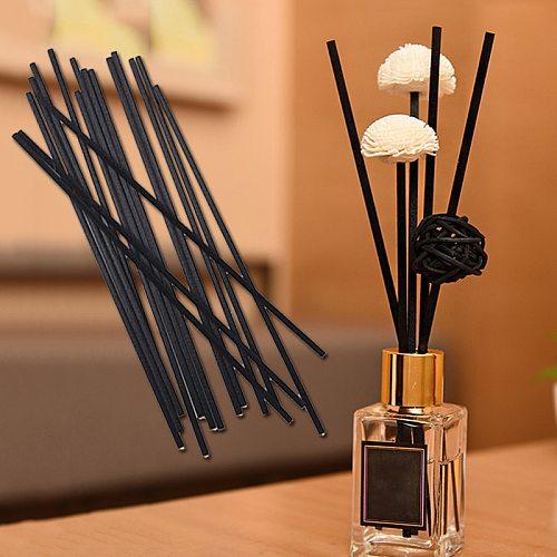 10 Pcs/Set 3mm Black Fiber Rattan Sticks Replacement Refill Reed Diffuser Sticks Mulit Size Aromatherapy Volatile Rod For Home