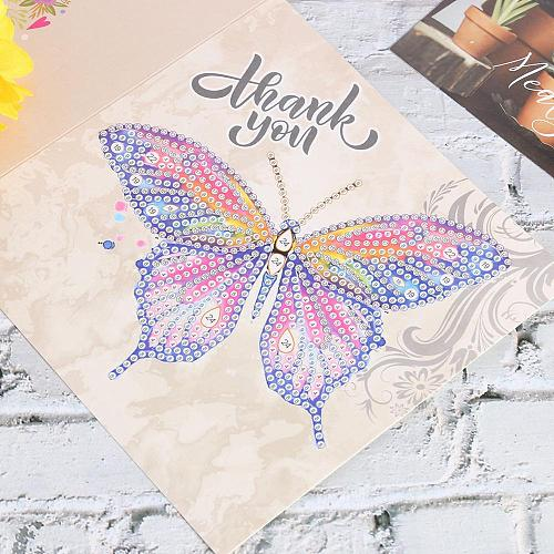 6/8/12 Pcs Diamond Painting Greeting Card Special Shape Diamond Embroidery Birthday Cards Thanksgiving Cards Cross Stitch Craft
