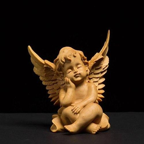 8CM Cupid Statue Loving Angel Kind Angel Figure Wing Statue Cupid Jesus Buddha Decoration Love Holy for Decoration