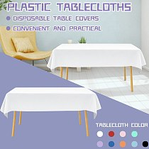 Plastic Tablecloths Disposable Table Covers Party Weddings Outdoor Table Cover Birthday Table Cloth Decor Tablecloth 54*108
