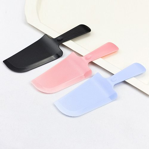 Plastic Cake Cream Knife Spatula Disposable Non Stick Butter Cooking Rubber Shovel Bakery kitchen Tools Cake Cutter Wholesale