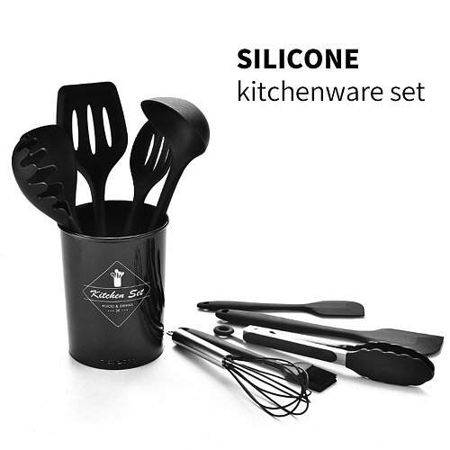 10PCS Kitchenware Heat Resistant Silicone Cookware Set Nonstick Cooking Tools Kitchen & Baking Tool Kit Utensils