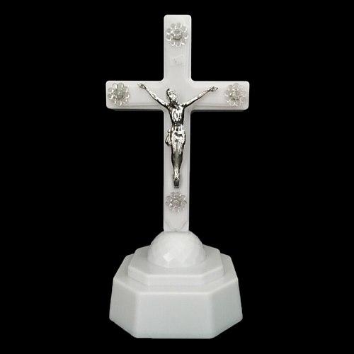 LED Light Christ Jesus Lcon Cross Home Church Pray Ornaments Church Souvenirs 50JD