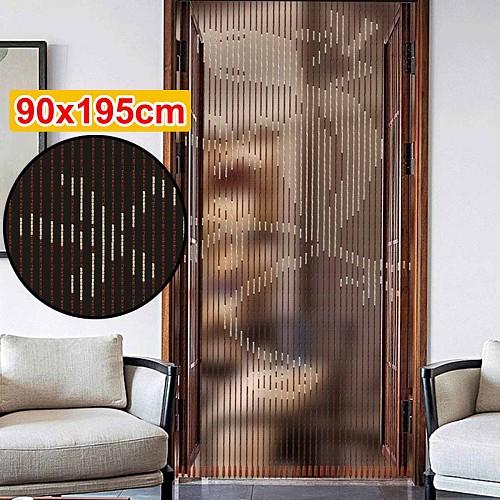 Handmade Wooden Blinds 90x195cm 41 Line Wooden Bead Curtains Fly Screen Gate Divider Sheer For Hallway Living Room Door Window