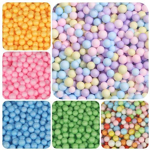 2-4mm/5-10mm Multi Color Foam Balls Mini Beads Polystyrene Styrofoam Filler Bubble Ball DIY Wedding Christmas Party Decoration