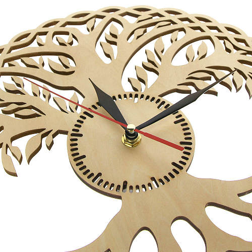 Tree of Life Non-ticking Laser Clock Tree with Roots Nursery Wall Art Decor Gift For Anniversary Engagement Wedding