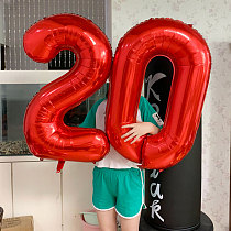 32inch Big Foil Birthday Balloons Helium Number Balloons Happy Birthday Party Decorations Kids adult Figures Wedding Air Globos