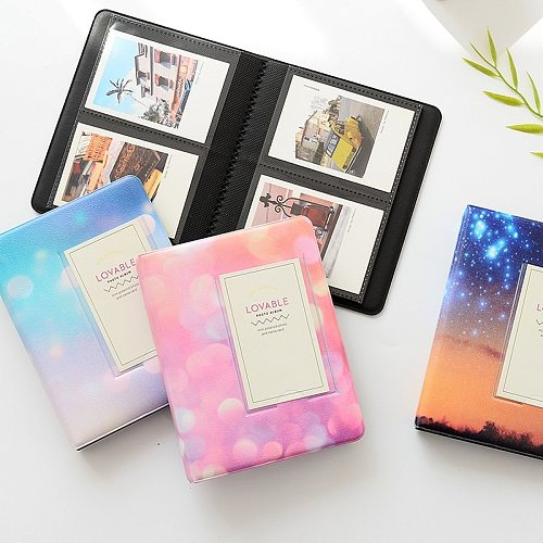 64 Pockets Starry Sky Photo Book Album 3 Inch For Fujifilm Instax Mini Films Album Instax Mini 9 8 7s 90 70 25 Name Card Holder