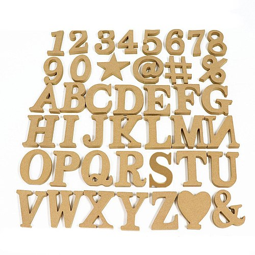 10cm Wood Color Wooden Number Sign Alphabet DIY Word Letter Art Crafts Standing Name Design Party Wedding Home Decor 3.94 Inches