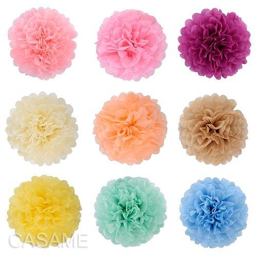 Handmade Tissue Party Flower Ball Decoration Paper Pompoms Wedding Decorative Baby Shower Birthday Favor Decor